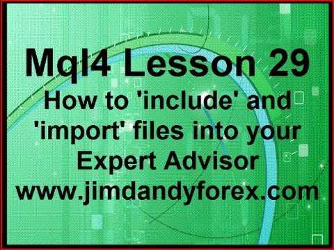 Video Tutorial | Mql4 Lesson 29 Including and Importing Files|2021